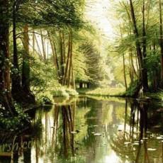 تابلو فرش مذهبی و طبیعت