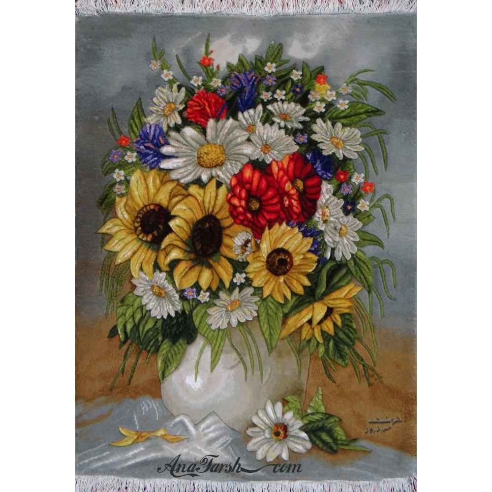 تابلوفرش دستباف گل آفتابگردان