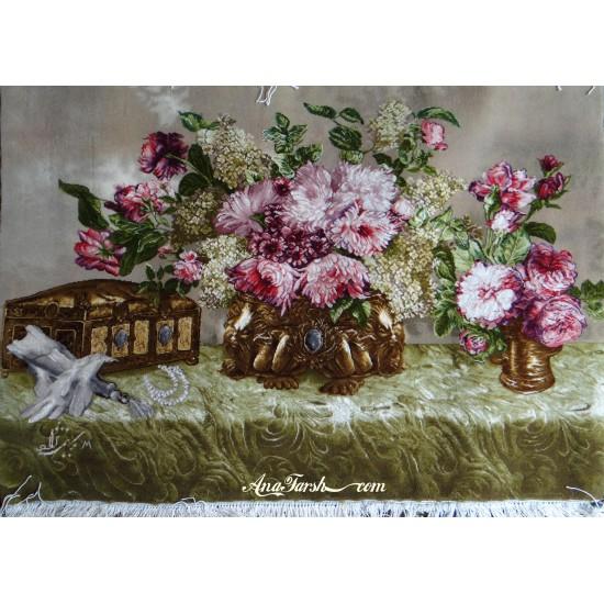 تابلوفرش گل صندوقدار