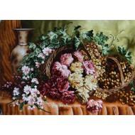 تابلوفرش گل و انگور شفق