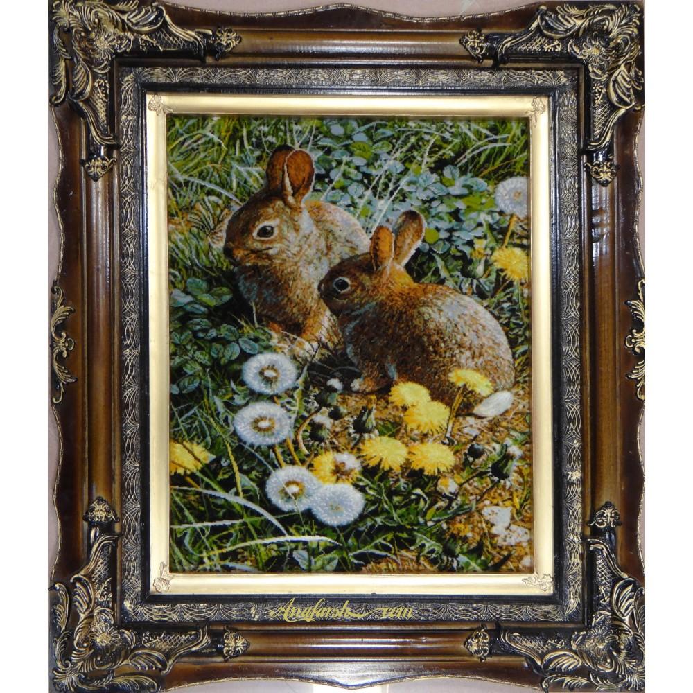 تابلو فرش دستباف تبریز خرگوش