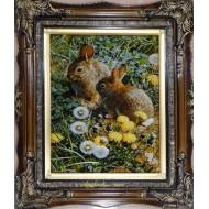 تابلو فرش خرگوش