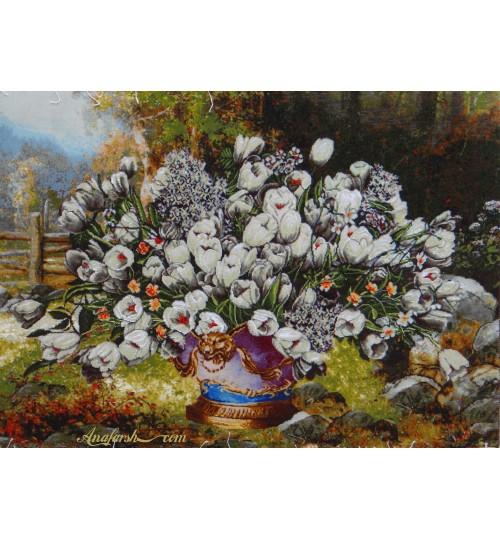 Tulip flower tableau