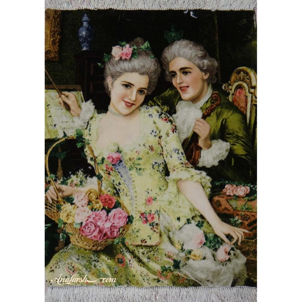 تابلوفرش عروس و داماد(احساس رمانتیک)