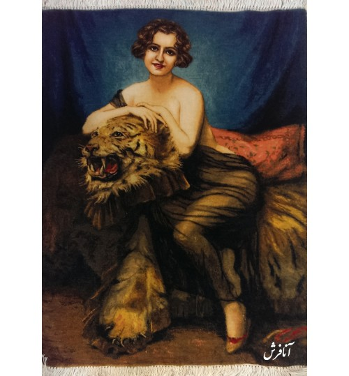 Girl and Tiger Tableau Carpets