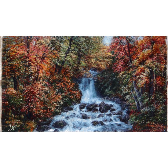 تابلوفرش منظره طبیعت و آبشار