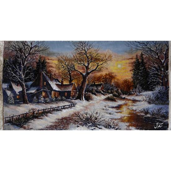 تابلوفرش منظره زمستان