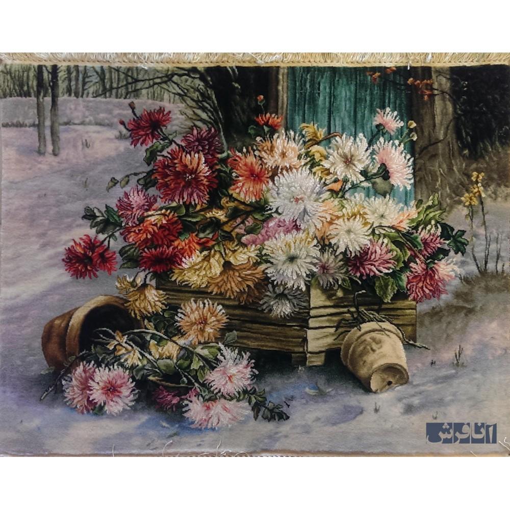 تابلوفرش گل برفی