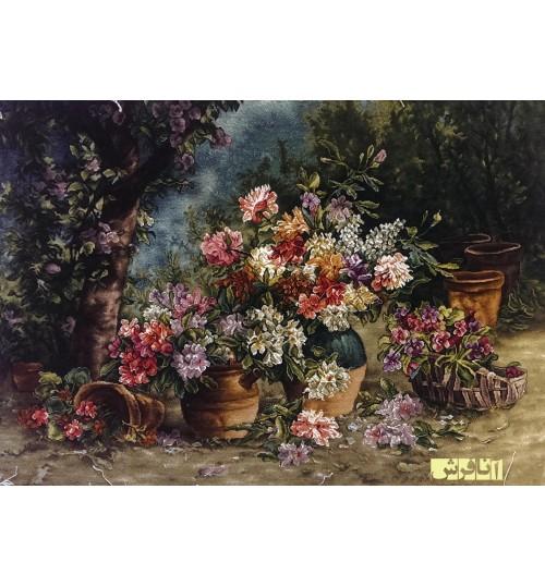 تابلوفرش سه گلدان