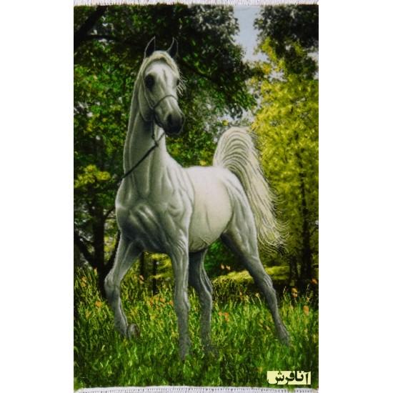 تابلو فرش اسب سفید