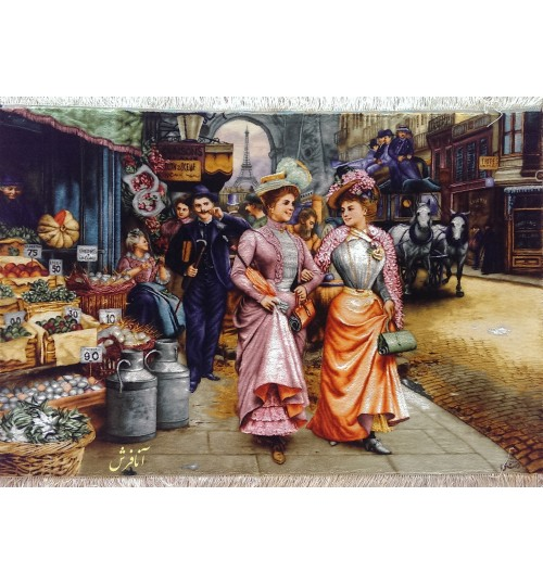 تابلوفرش ذرع و نیم بازار پاریس-شانزلیزه