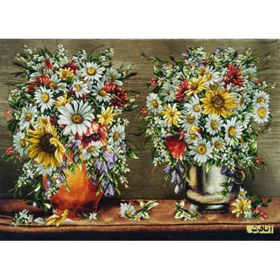 تابلوفرش  دو گلدان