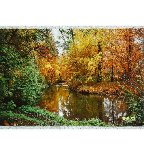 تابلوفرش منظره پاییز و رودخانه
