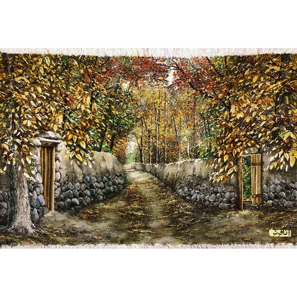 تابلو فرش دستباف کوچه باغ تبریز