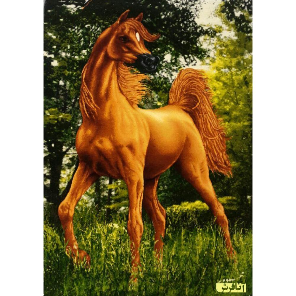 تابلو فرش دستباف اسب مینیاتوری