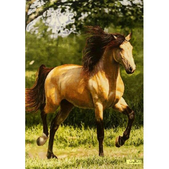 تابلو فرش  اسب حنایی