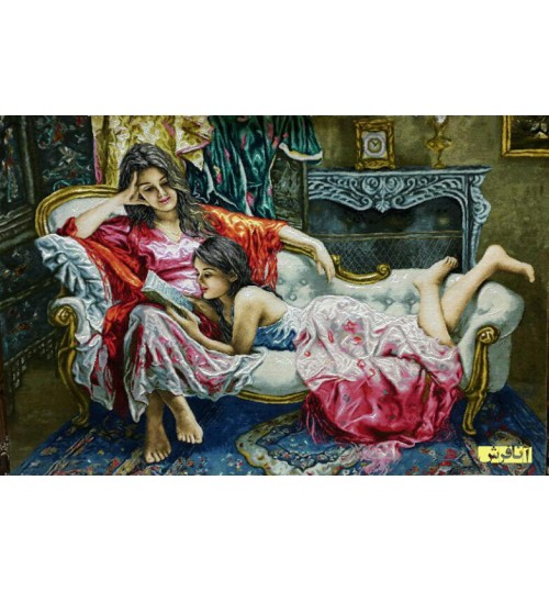 تابلو فرش مهر خواهری