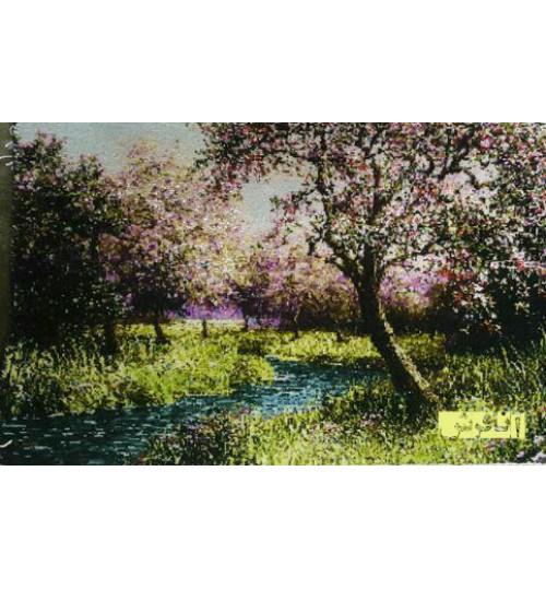 تابلوفرش تک درخت شکوفه