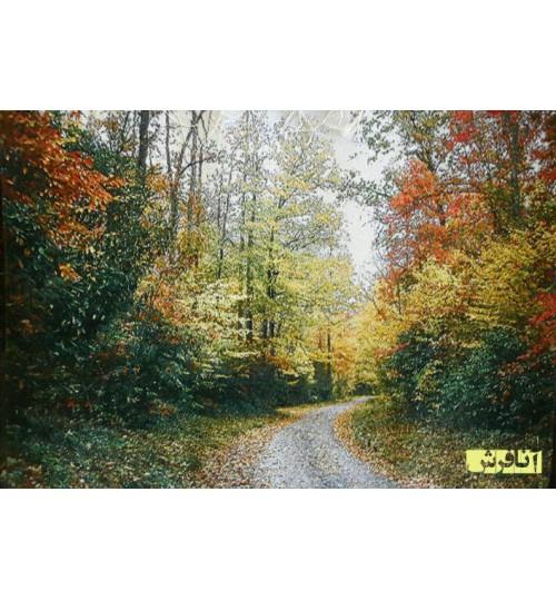 تابلوفرش  جنگل پاییزی