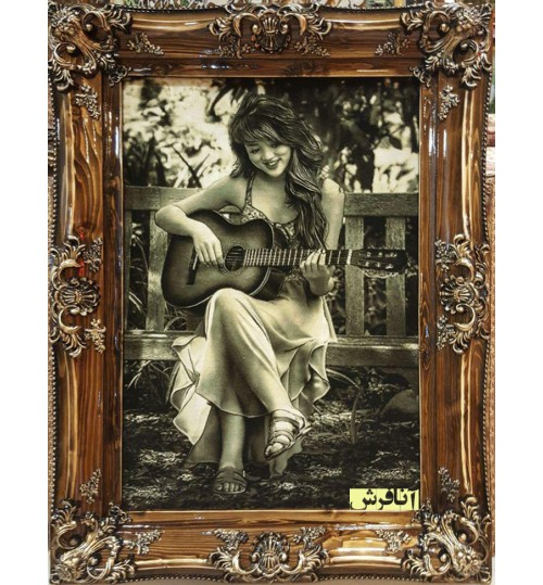 Guitarist girl tableau carpets