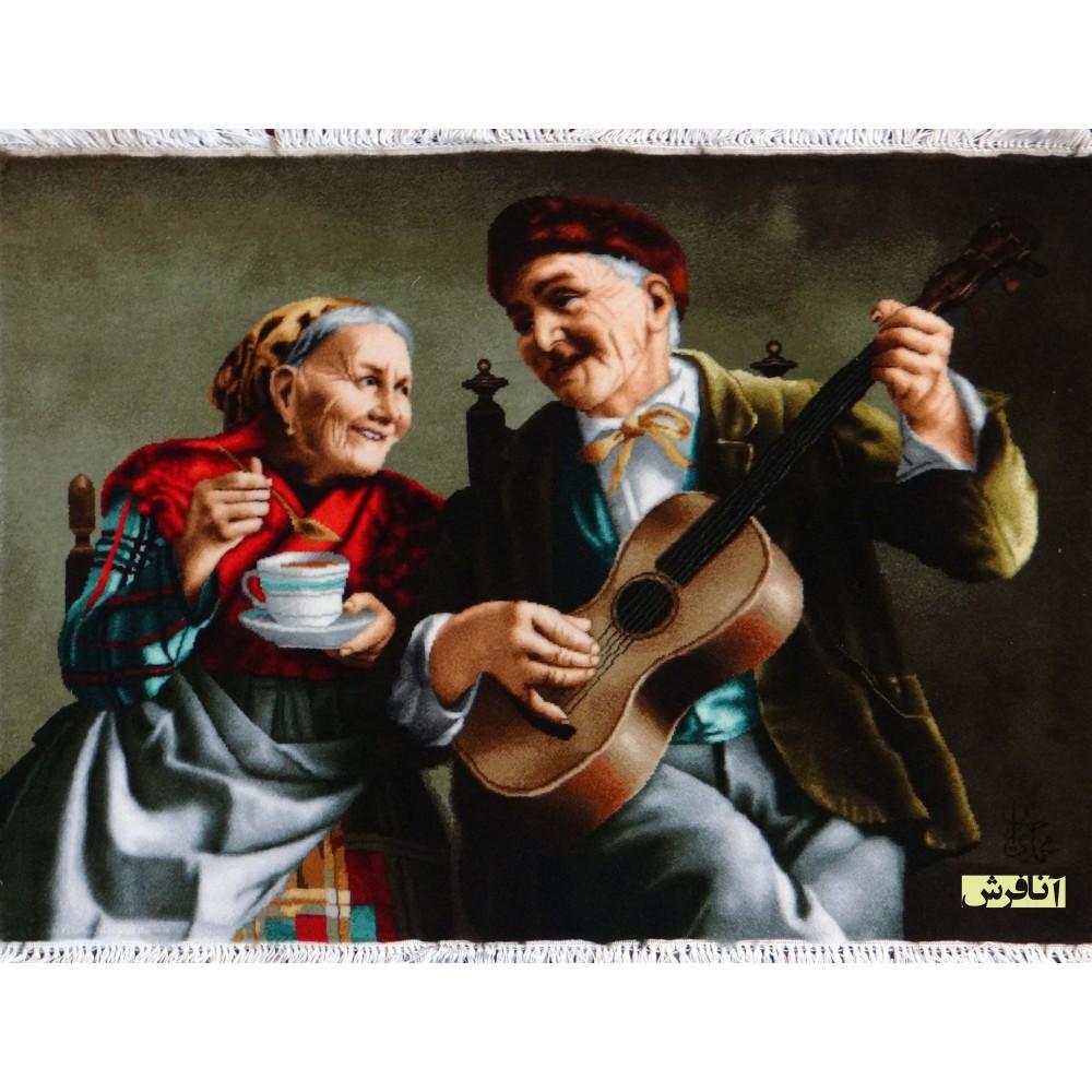 تابلو فرش دستباف  عشق پیری