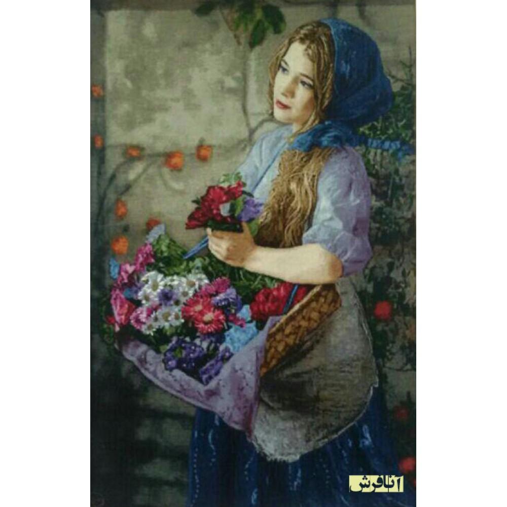 تابلو فرشدختر گل فروش دستباف تبریز
