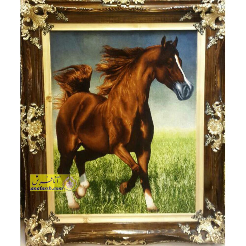 تابلو فرش دستباف اسب عرب