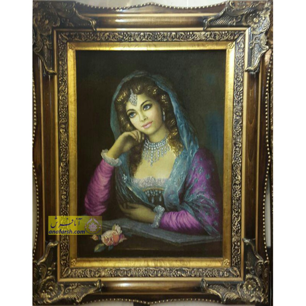 تابلو فرش دختر شاهزاده دستباف تبریز