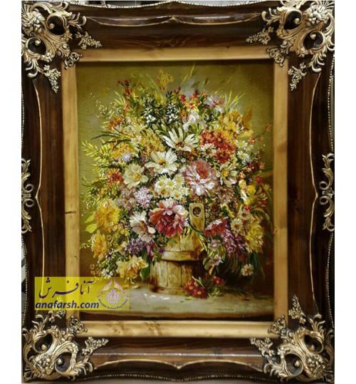 تابلوفرش گل طلایی