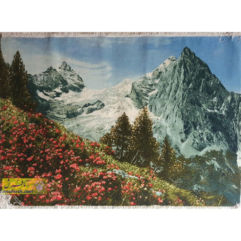 تابلوفرش  منظره کوهستان
