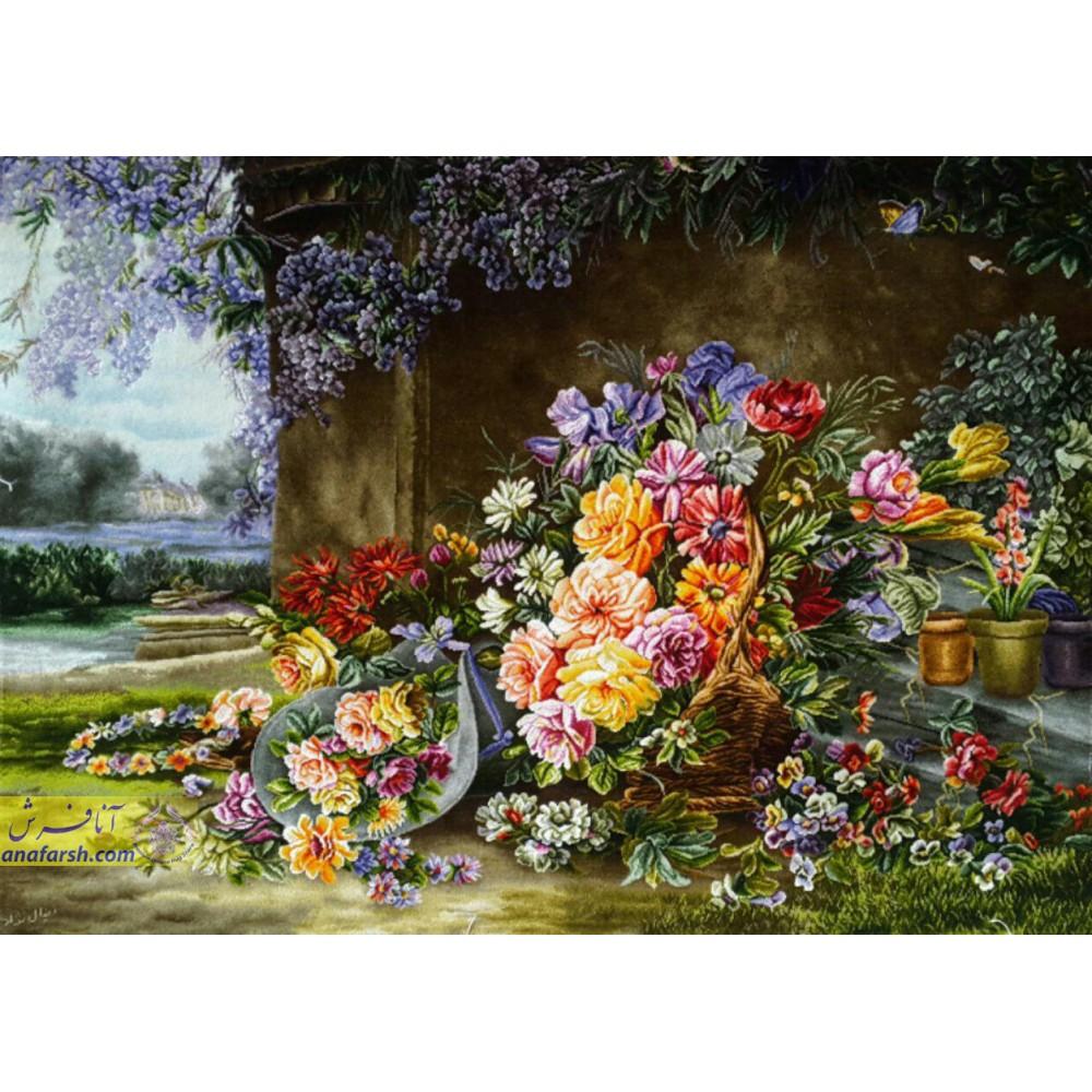 تابلوفرش سبد گل عروس