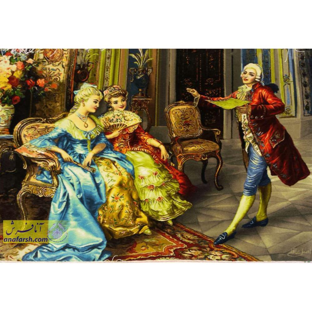 تابلو فرش دستباف  شاعر جوان