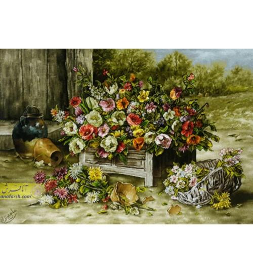 تابلوفرش جعبه گل لاله
