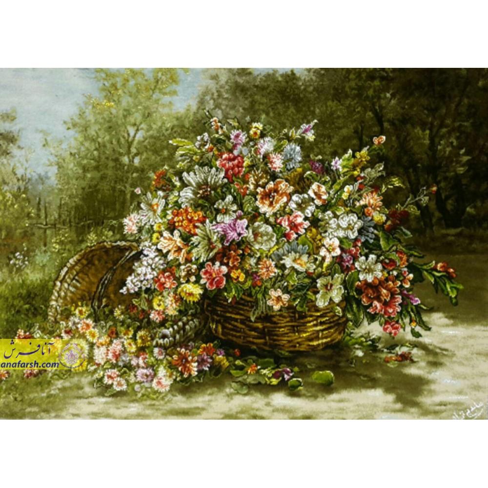 تابلوفرش سبد گل
