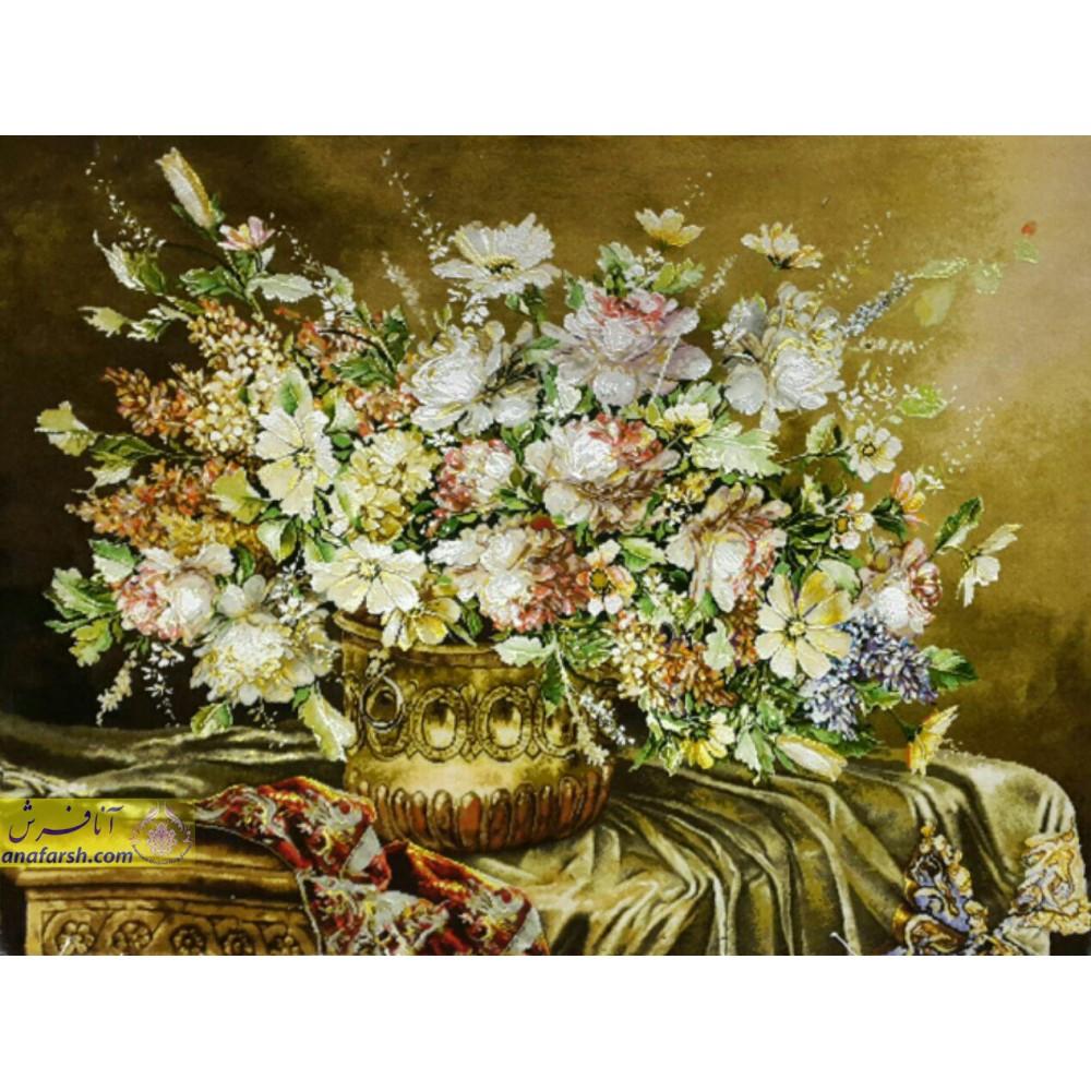تابلوفرش گل رز رومیزی