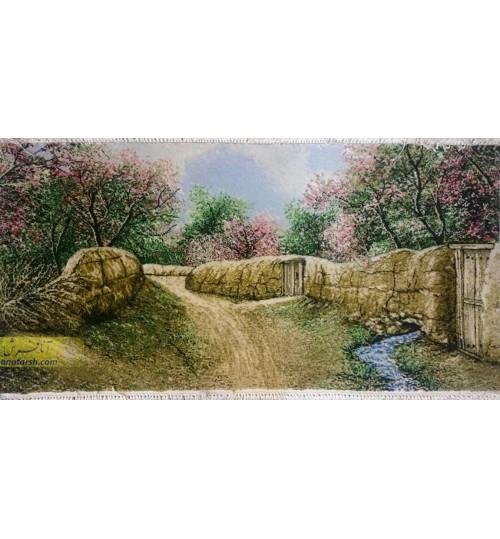 تابلو فرش کوچه باغ بهار