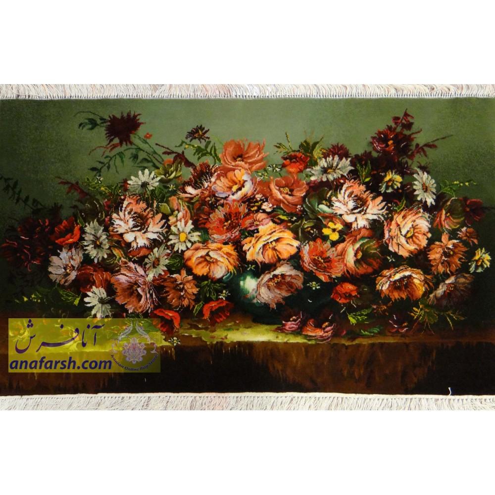 تابلو فرش گل