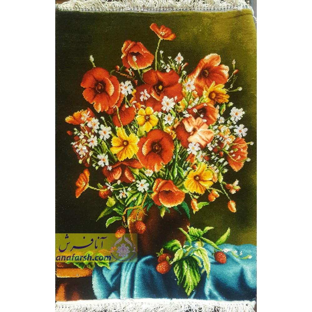 تابلوفرش دستباف گل لاله