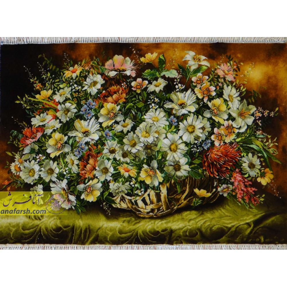 تابلوفرش دستباف گل ملیسا