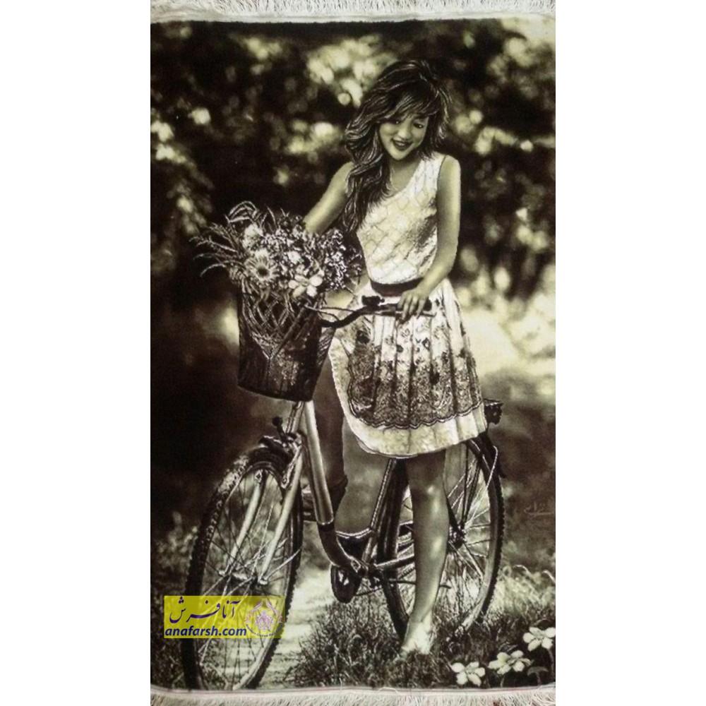 Cyclist Girl Tableau Carpets