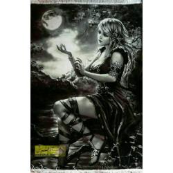 تابلو فرش دختر مهتاب