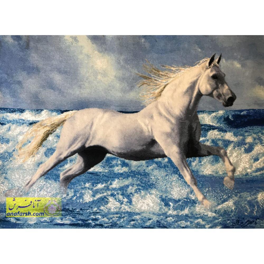 تابلو فرش دستباف اسب
