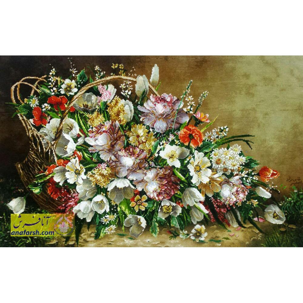 تابلوفرش دستباف گل