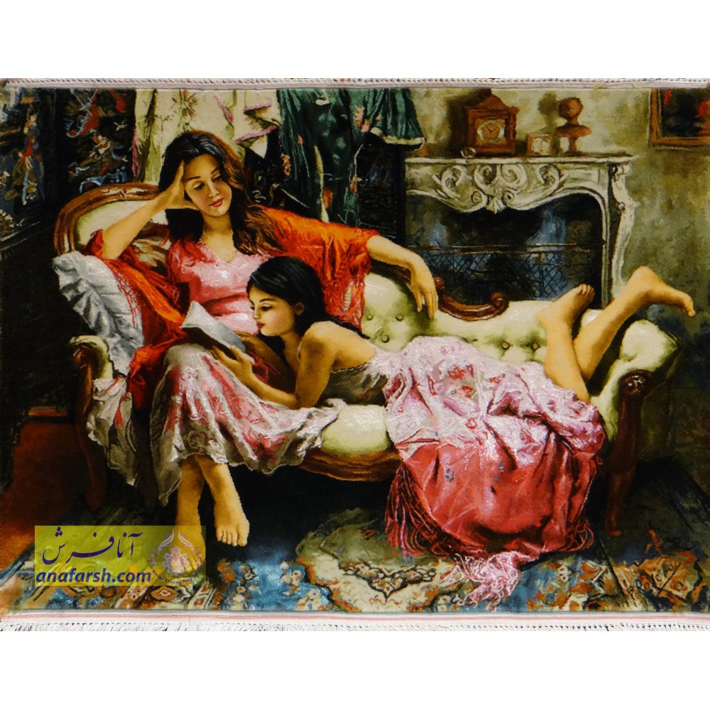تابلو فرش دستباف   مهر خواهری