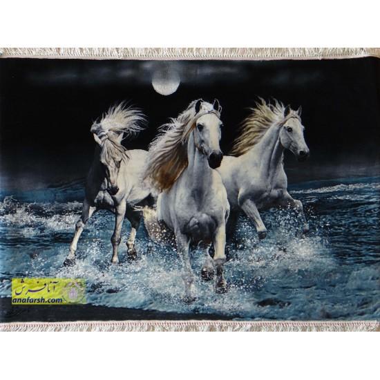 تابلو فرش گله  اسب