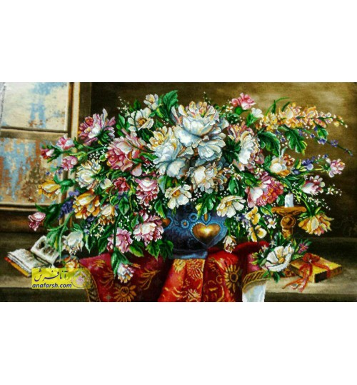 تابلوفرش گل رومیزی