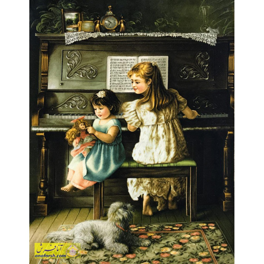 تابلوفرش پیانو زن دستباف تبریز