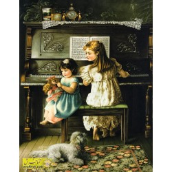 تابلوفرش دختر پیانو زن