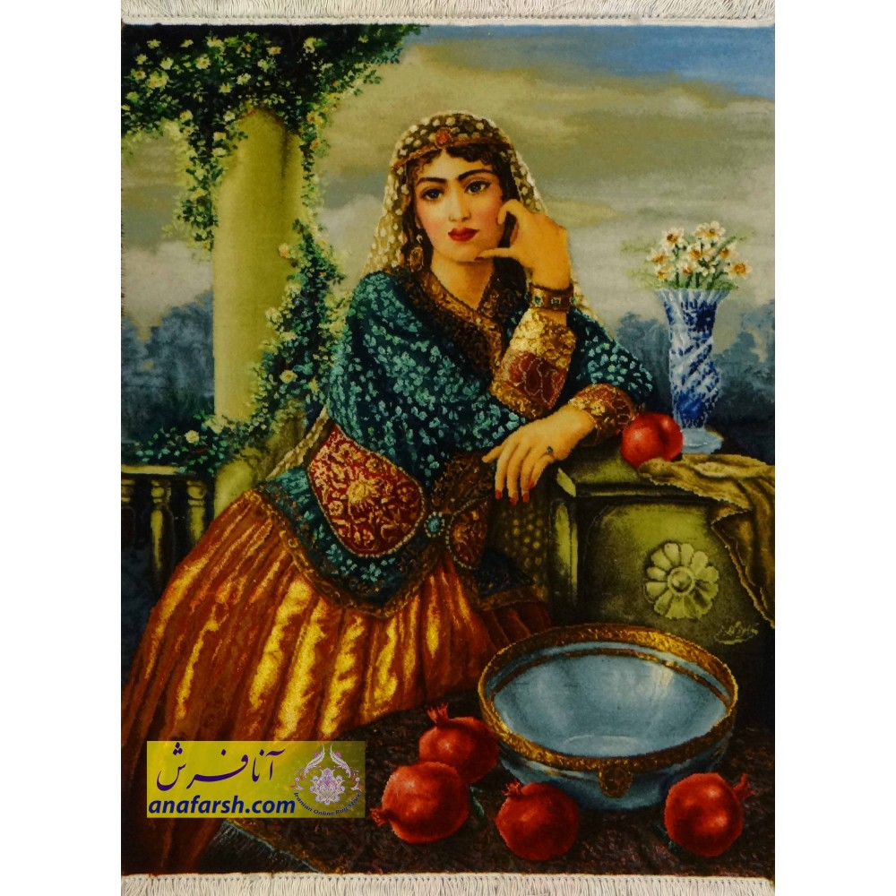 Qajar girl  carpets