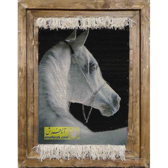 تابلو فرش اسب